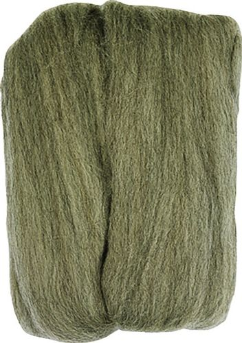 Clover 20 g 100 Percent Natural Wool Roving, Ash